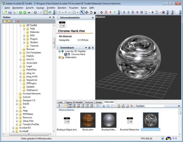 Screenshot 1 - Adobe Acrobat 3D 1.0 – Vollversion