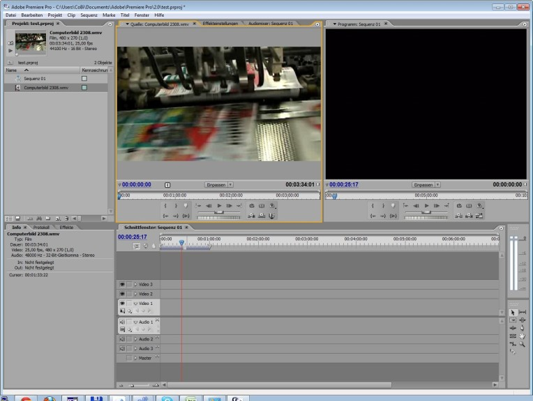 Screenshot 1 - Adobe Premiere Pro 2.0 – Vollversion