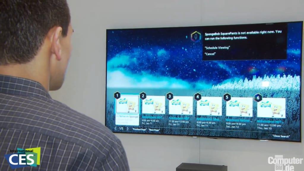 Smart TV von Samung mit Voice-Control