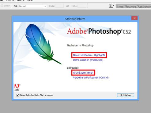 Photoshop-Startbildschirm ©COMPUTER BILD