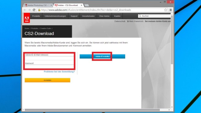 Adobe Download-Portal © COMPUTER BILD