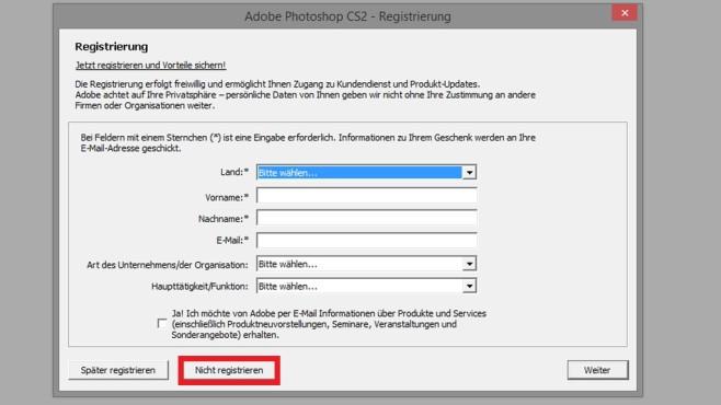 Adobe Photoshop CS2 – Kinderleicht installiert ©COMPUTER BILD
