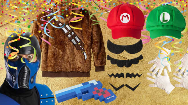 Karneval: Heiße Kostüme für coole Gamer Mit diesen Faschings-Kostümen sind Sie auf jeder Party der Star!©pattilabelle-Fotolia.com, Strikker – Fotolia.com, Star Wars, Katara, 8Bit Toys, Rubie's