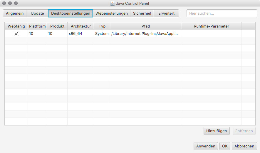 Screenshot 1 - Java Runtime Environment (JRE) (Mac)