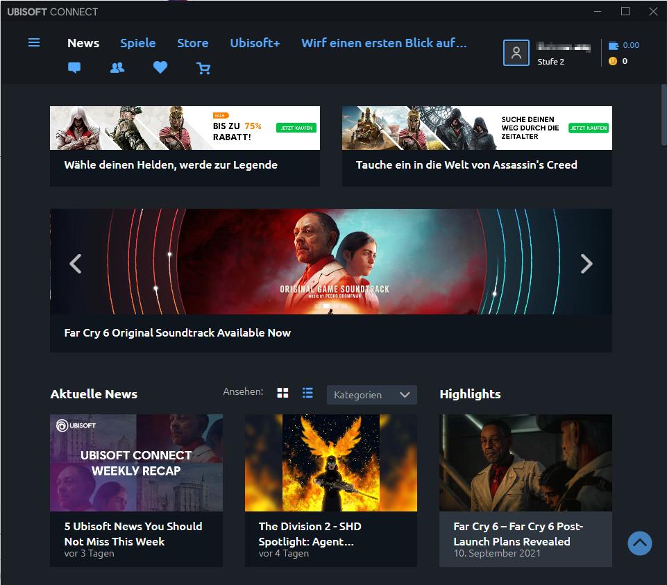 Screenshot 1 - Ubisoft Connect (ehemals Uplay)