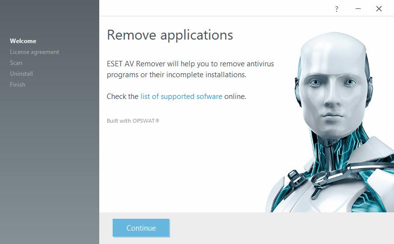 Screenshot 1 - ESET AV Remover