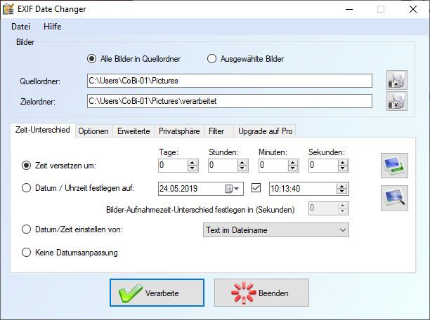 Screenshot 1 - Exif Date Changer