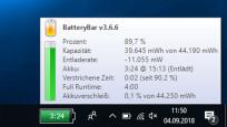 Batterybar Free: Rest-Akkustrom immer im Blick©COMPUTER BILD