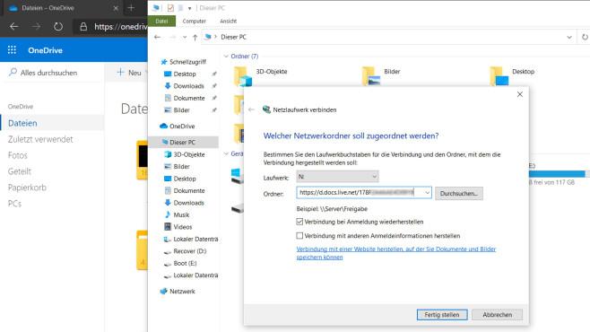 OneDrive: Microsofts Cloud-Speicher richtig nutzen Auch wenn Microsoft die Funktion gestrichen hat: Mit einem Kniff lässt sich der OneDrive weiterhin als Netzwerklaufwerk in den Windows-Explorer einbinden.©COMPUTER BILD