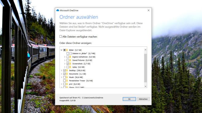 OneDrive: Microsofts Cloud-Speicher richtig nutzen In den Einstellungen wählen Sie aus, welche Ordner und Dateien OneDrive zwischen Cloud und PC synchronisieren soll und welche nicht.©COMPUTER BILD