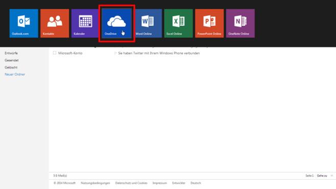 So erstellen Sie einen Outlook-Account für OneDrive ©COMPUTER BILD