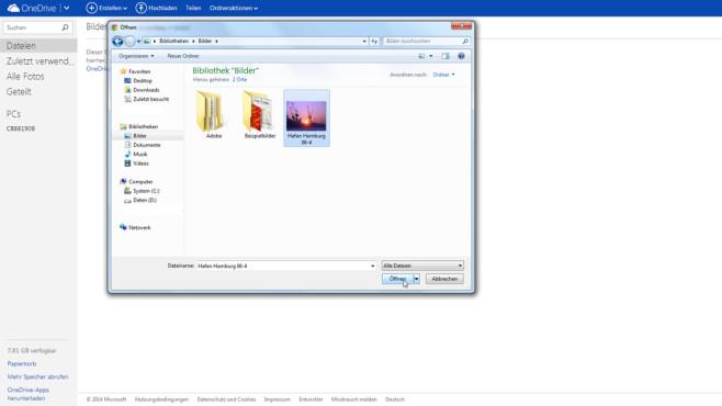 OneDrive nutzen ©COMPUTER BILD