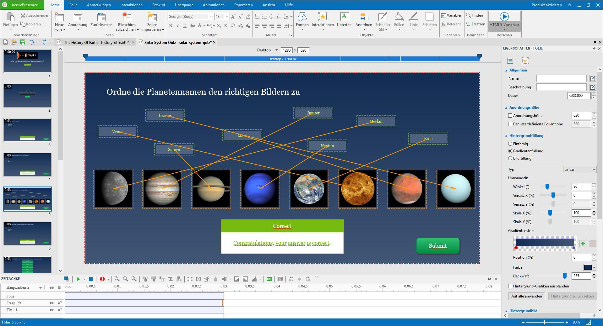 Screenshot 1 - ActivePresenter Free Edition