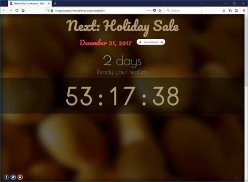 Steam Sale Countdown ©Whenisthenextsteamsale.com