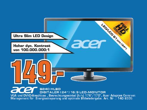 Acer S240HLbd ©Saturn