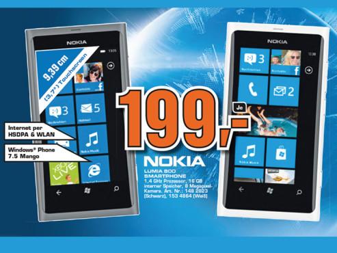 Nokia Lumia 800 ©Saturn