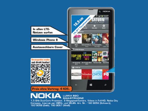 Nokia Lumia 820 ©Saturn