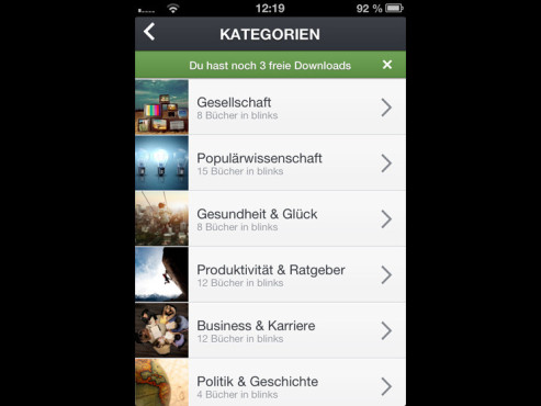 Screenshot Blinkist-App © COMPUTER BILD