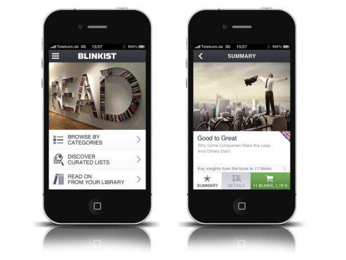 Screenshots Blinkist-App © COMPUTER BILD