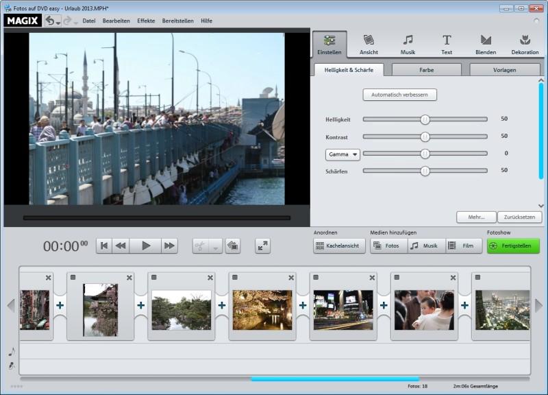 Screenshot 1 - Magix Fotos auf DVD easy