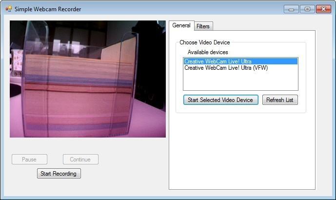 Screenshot 1 - Simple Webcam Recorder