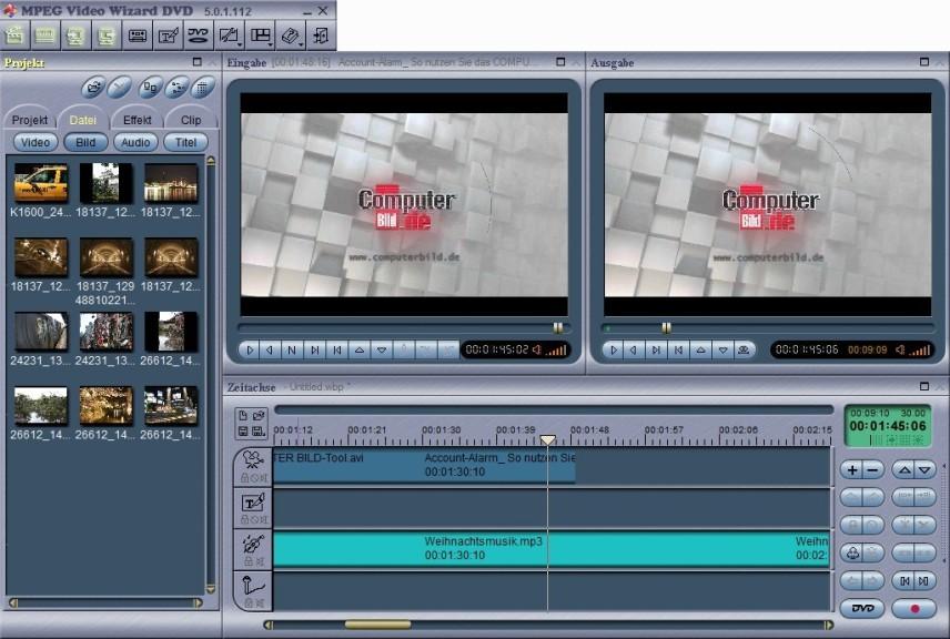 Screenshot 1 - MPEG Video Wizard DVD