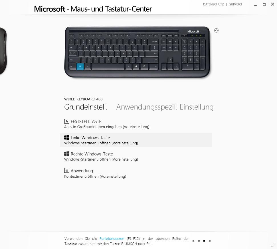 Screenshot 1 - Microsoft Maus- und Tastatur-Center (32 Bit)