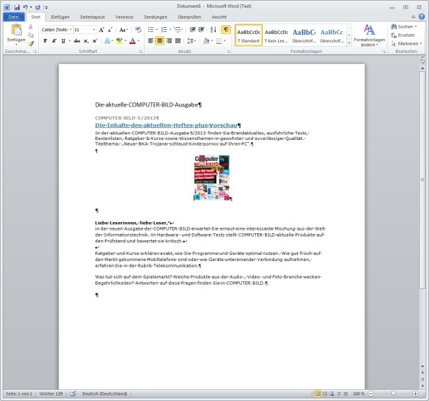 Microsoft Word 2010 14047631000 Download Computer Bild