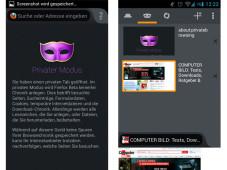 Mozilla Firefox 20 für Android©COMPUTER BILD