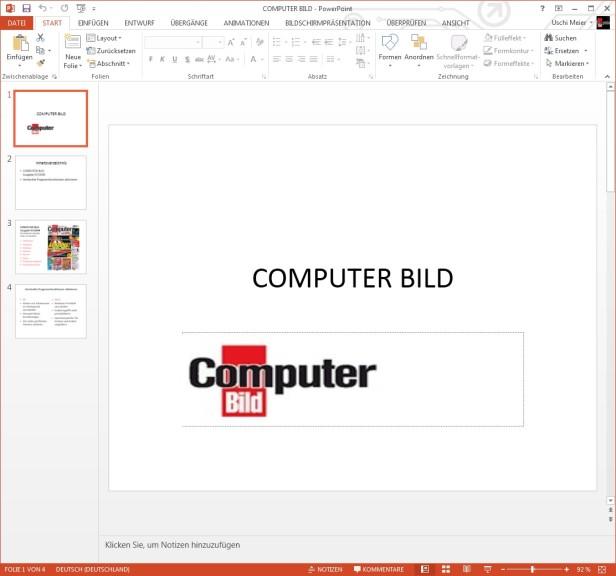 Screenshot 1 - Microsoft PowerPoint 2013