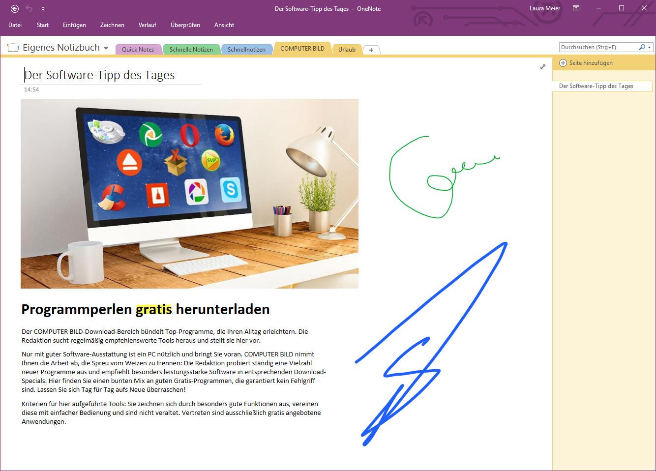 Screenshot 1 - Microsoft OneNote Free