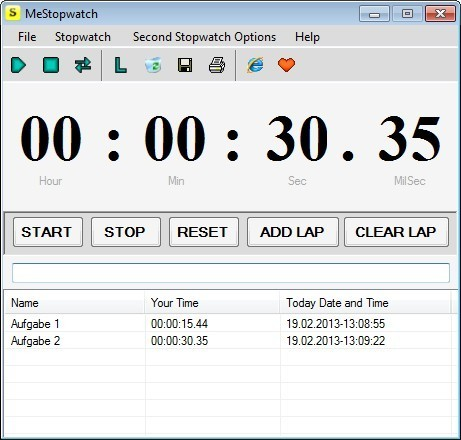 Screenshot 1 - MeStopwatch