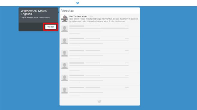 Twitter: Account erstellen ©COMPUTER BILD