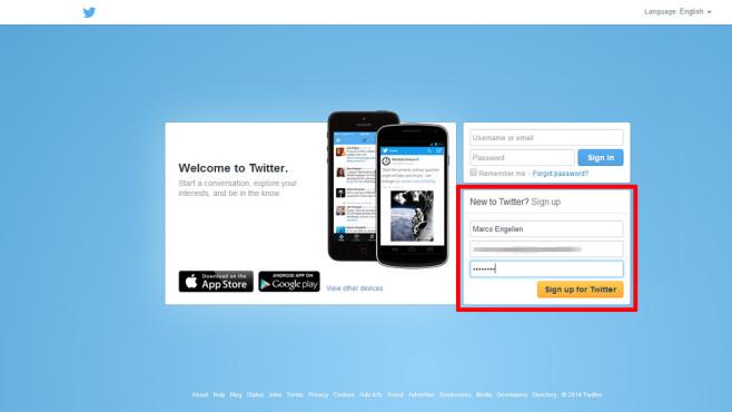 Twitter: Account erstellen©COMPUTER BILD