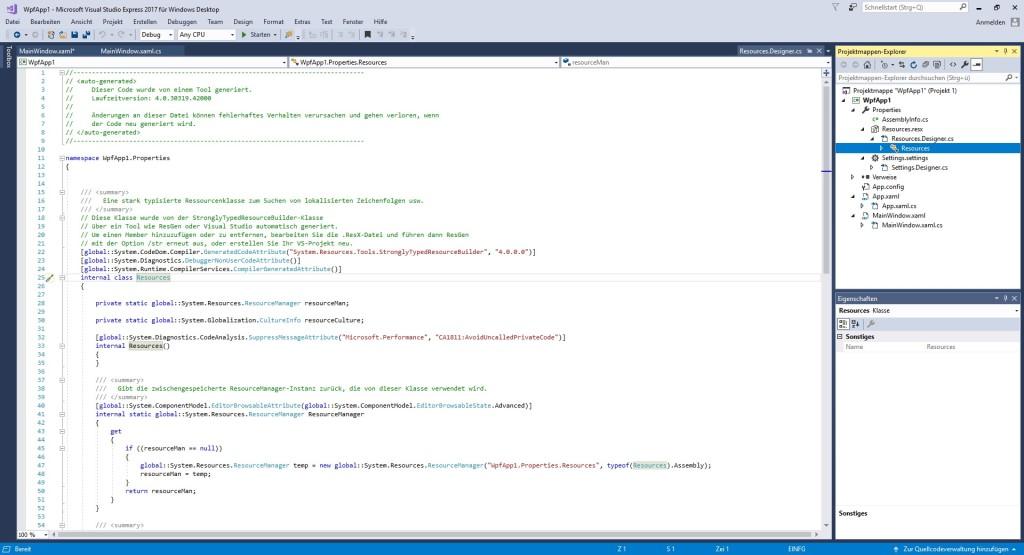 Screenshot 1 - Visual Studio Express 2017 für Windows Desktop