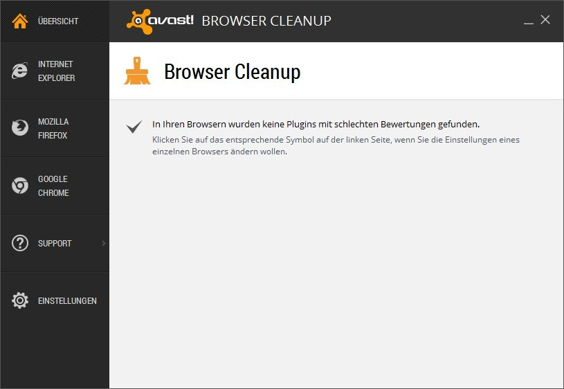 Screenshot 1 - Avast Browser Cleanup