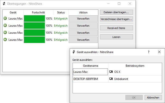 Screenshot 1 - NitroShare