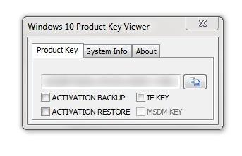 Screenshot 1 - Windows Product Key Viewer