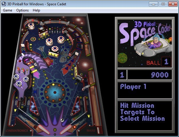 Screenshot 1 - Microsoft 3D Pinball