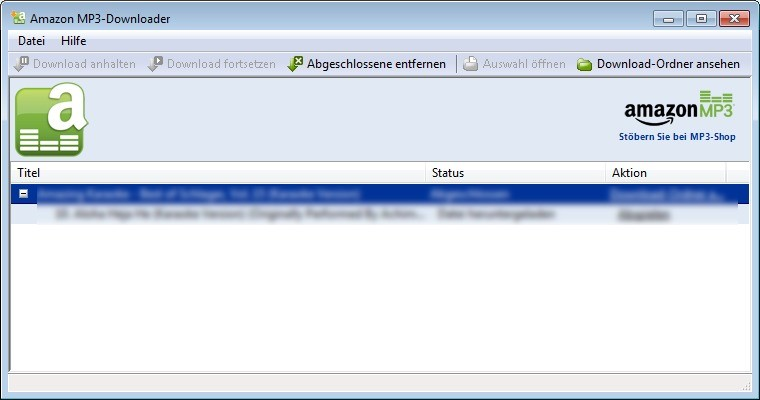 Screenshot 1 - Amazon MP3-Downloader