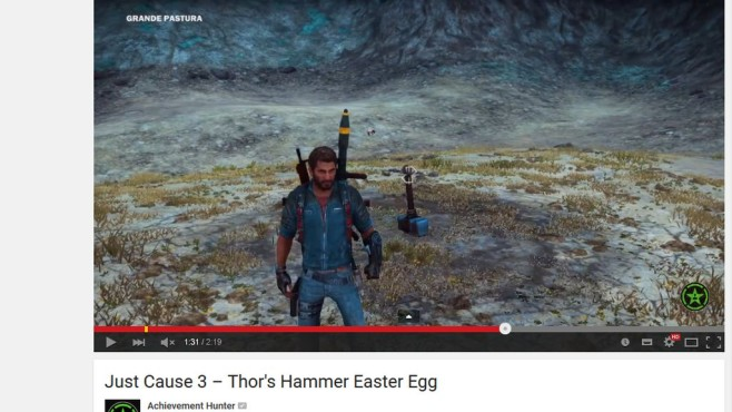 Just Cause 3: Thors Hammer ©Square Enix / YouTube / Achievement Hunter
