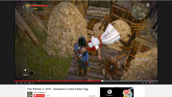 The Witcher 2: Assassin's Creed Easter Egg ©Namco Bandai