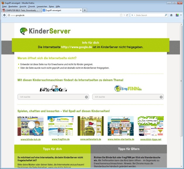 Screenshot 1 - KinderServer