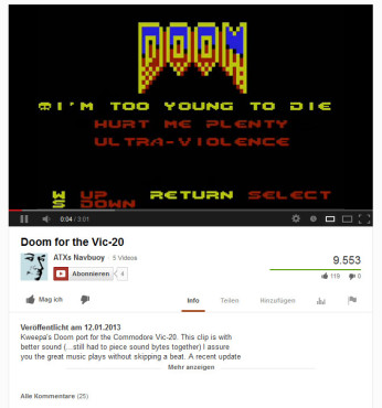 Doom Commodore VC 20 © Commodore Computer Club USA/id Software