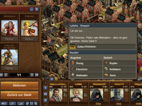 Forge of Empires: Profiltext ©InnoGames