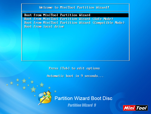 Screenshot 1 - Partition Wizard Bootable CD