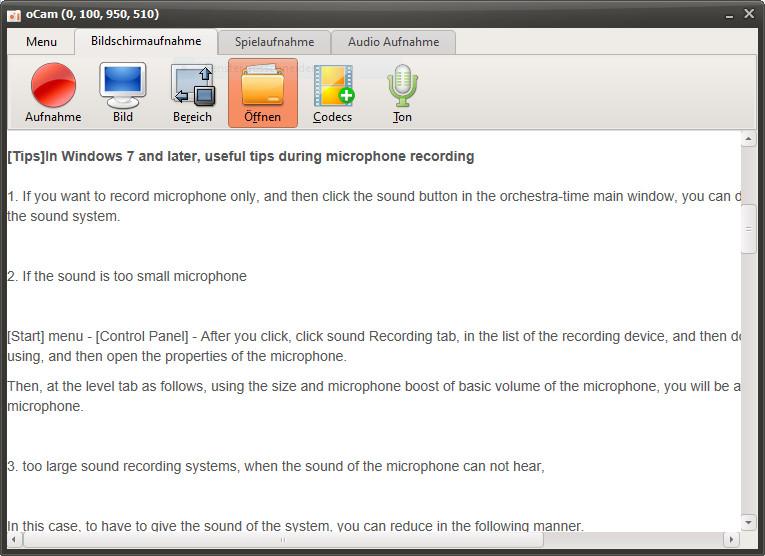 Screenshot 1 - oCam