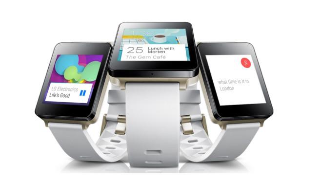 LG G Watch: Praxis-Check und Gerüchte-Übersicht Die LG G Watch läuft mit Android Wear und ist in schwarz oder weiß verfügbar.©LG