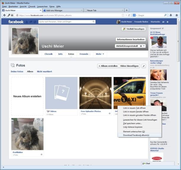 Screenshot 1 - Facepaste für Firefox