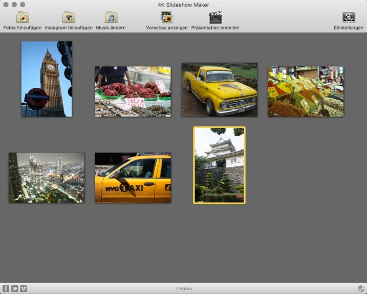 Screenshot 1 - 4K Slideshow Maker (Mac)